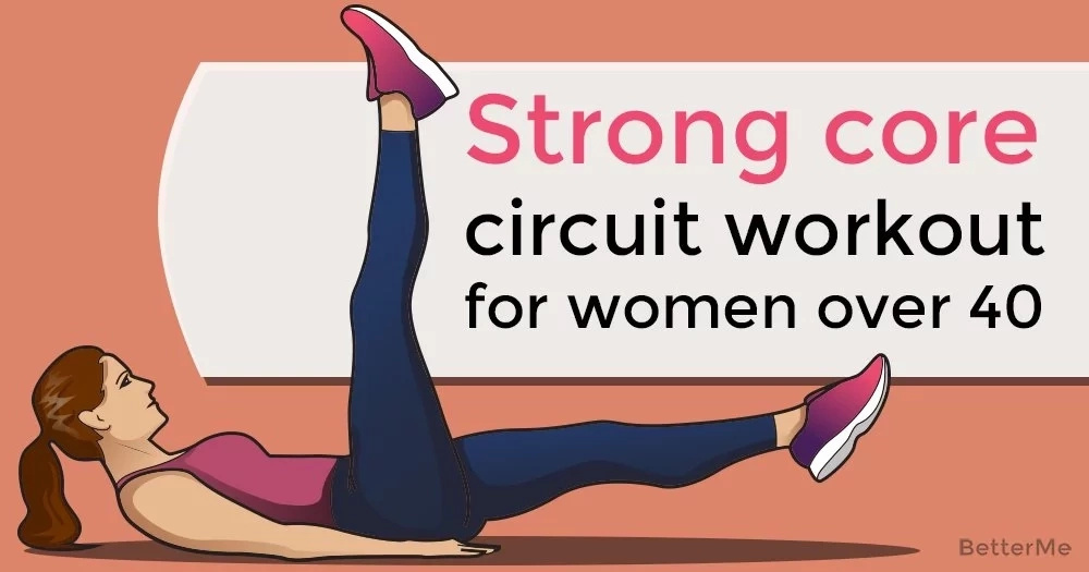 Strong core circuit workout for women over 40
