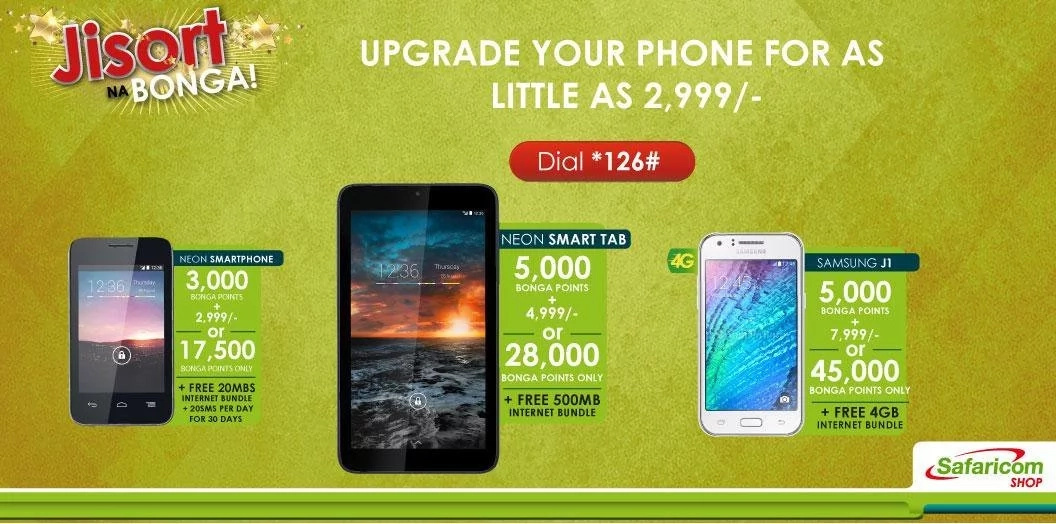 Safaricom Bonga Points offers 2017
