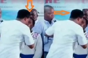 SEE how this pastor performs miracles on female congregants by kissing them (photos, video)
