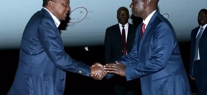 PHOTOS: President Uhuru Jets Back From UN General Assembly Dressed Down