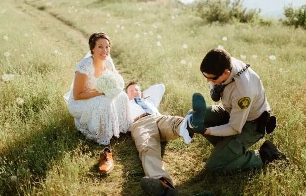 Wedding photoshoot gone wrong!