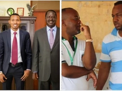 State House employee positively congratulates Moha Jicho Pevu after he lost to Joho's kin