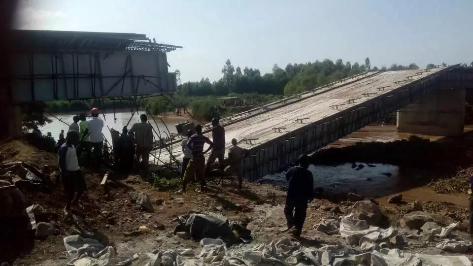 Uhuru's KSh 1.2 Billion bridge collapses in Budalang'i
