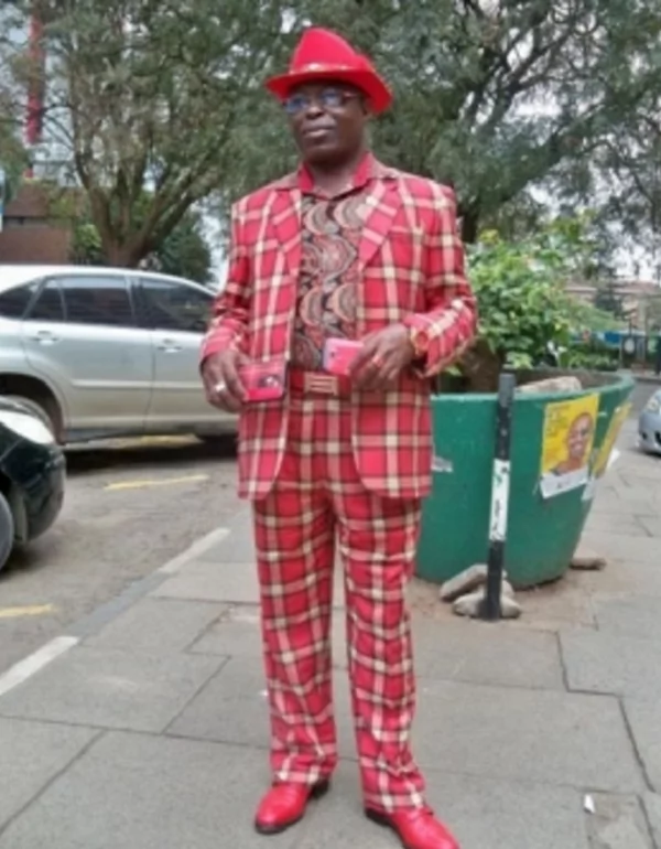 Meet Kenyan man whose suit, underwear, phone cover and belt always match in colour (photos)