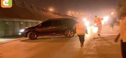 Shocking! A look at what DRUNK drivers did to escape police roadblocks( video)
