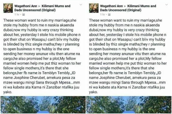 I am happily EATING your husband- Mpango wa kando openly tells