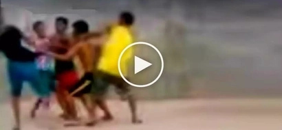 Rambulan na! Violent Pinoy teens get into brutal street fight after playing basketball