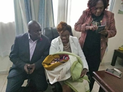 Newly elected woman rep saves 2-day-old baby abandon in a bush by its drunk mother (photos)