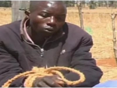 Drama as Eldoret headteacher is caned like a child for violating female students (VIDEO)