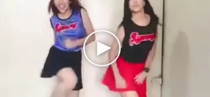 Two Pinays are Performing Really Igniting Cheerleader Dance!