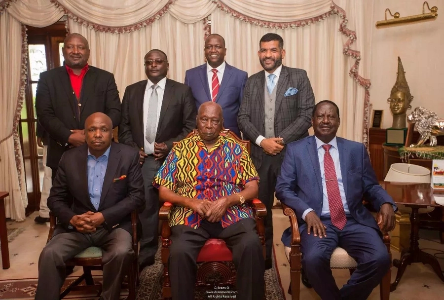 Kenyans express divided opinion following Raila's rare meeting with retired president Moi