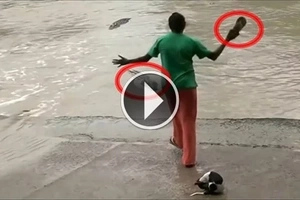 OMG! What this woman did to a crocodile will make you cringle!