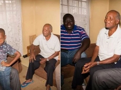 Raila takes a break from campaigns to pay special visit to ailing football legend Joe Kadenge (photos