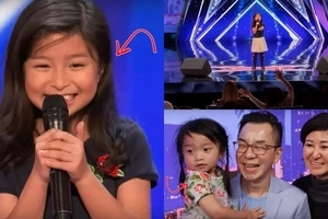 This cute little girl is believed to be the next Celine Dion. Her name is Celine too and when she started singing everyone was on their feet!