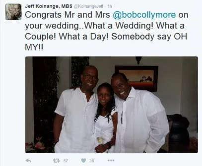 Safaricom's CEO Bob Collymore weds in style