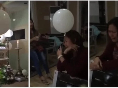 WATCH: What happened to this white balloon in kid's funeral would give you goosebumps!