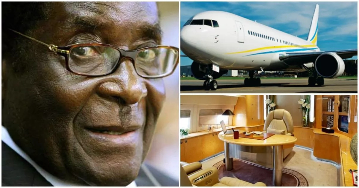Robert Mugabe splurges Ghc1m per day on this hired luxury jet (photos, video)