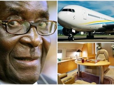 Revealed! Inside Ksh25m-a-day hired LUXURY jet Robert Mugabe uses as Zimbabwe struggles (photos, video)