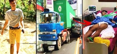 This kind-hearted Pinoy teen was brutally hit by a truck after saving his friend from an accident! His full story will break your heart!