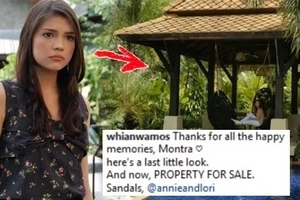 Namumulubi ba siya? Rhian Ramos is selling this beautiful beautiful family resort. Any takers?