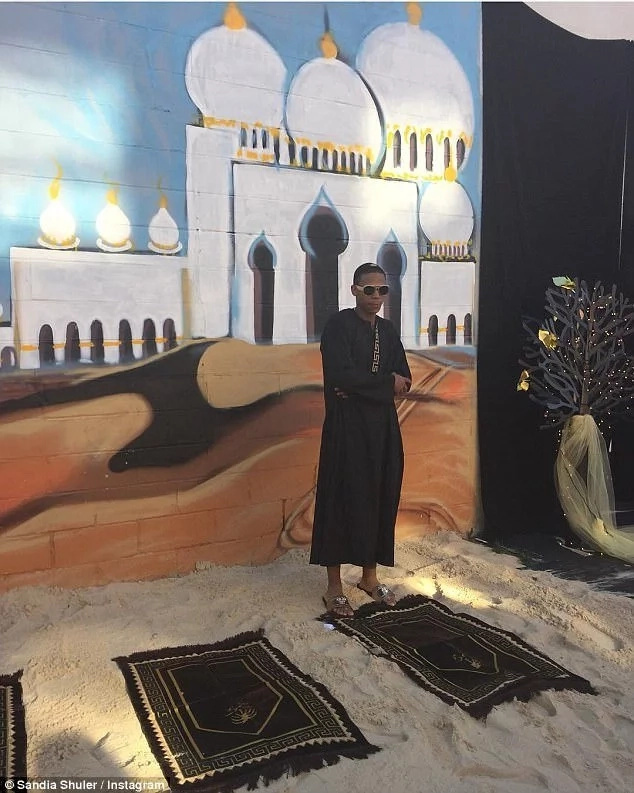 Johnny Eden Jr. had a Dubai-themed graduation party