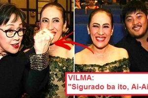 LOOK: Vilma Santos holds up her fist to threaten Ai-Ai delas Alas' young fiancé! Find out why!