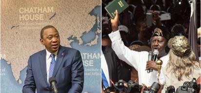 Uhuru admits he ordered the infamous media shutdown over Raila's mock swearing in