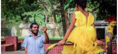 Disabled father, who has one hand only and begs for a living, saves money for 2 YEARS to buy dress for daughter (photo)