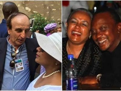 """Mtaliano anaswa akimuangalia MKEWE Rais Uhuru kwa macho ya """"kuzinguwa"""" (picha)"""