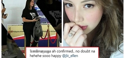 Confirmed na raw? Ellen Adarna's alleged baby bump is on full display while she was spotted at the airport together with John Lloyd