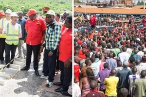 Ababu Namwamba embarrassed in front of Uhuru during Western Kenya tour