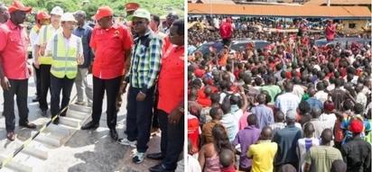 Ababu Namwamba embarrassed in front of Uhuru during Western Kenya tour