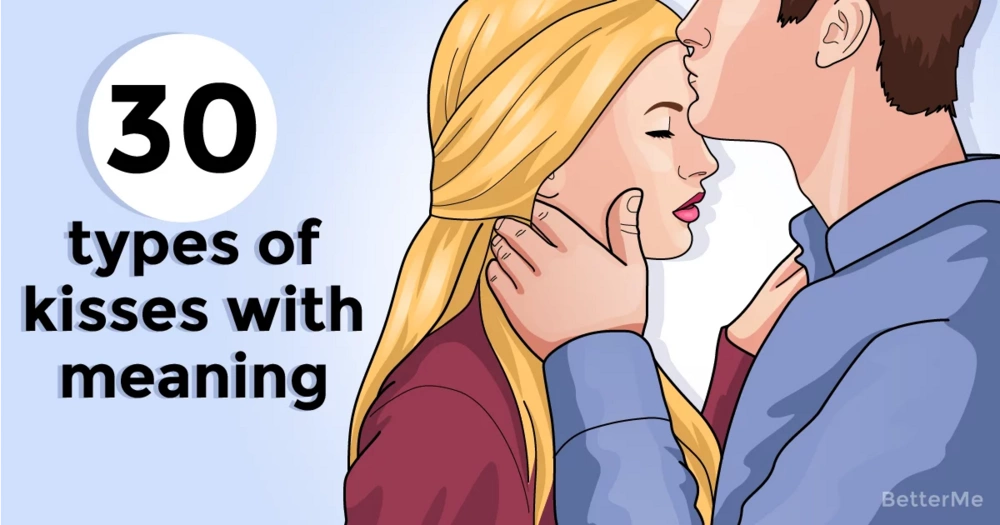 30 different types of kisses with meanings