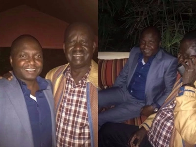 DP Ruto's friend enjoys dinner with Raila as he is better than Uhuru