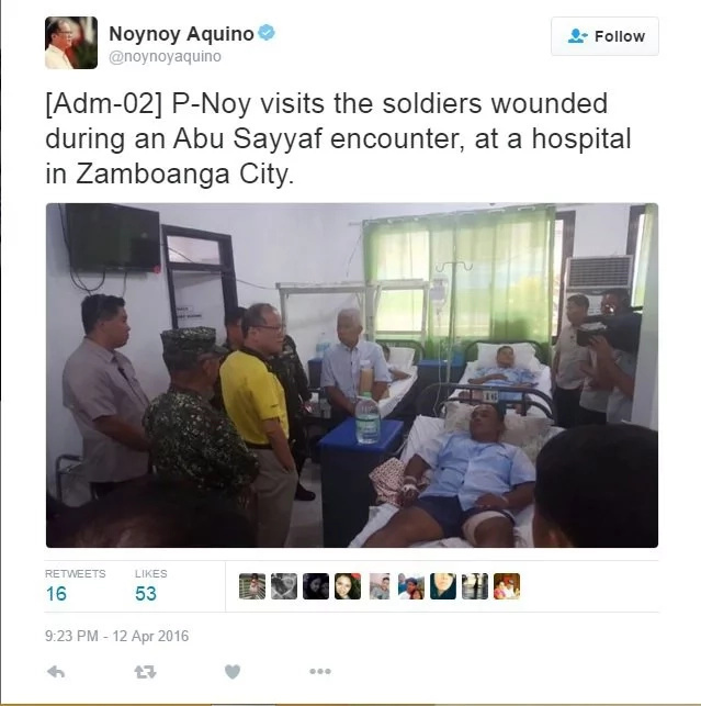 P-Noy visits soldiers wounded in Abu Sayyaf encounter