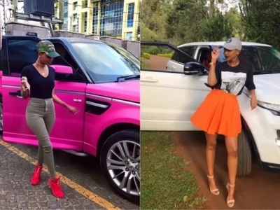 Huddah Monroe does away with her two pricey rides and feels nothing (Photos)