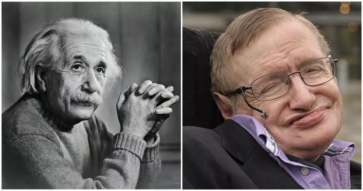 Arnav scored higher than Einstein (left) and Hawking (right)