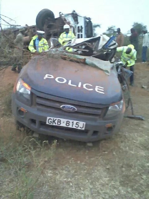 Officer dies, 3 others injured after lorry crashes into police car
