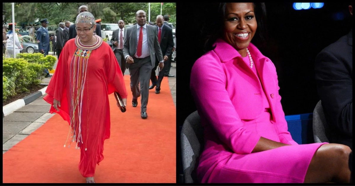 Amazing similarities of Margaret Kenyatta & Michelle Obama