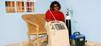 Remember the lady who walked with oxygen cylinders? You will be moved by how she has fared on after treatment (photo)