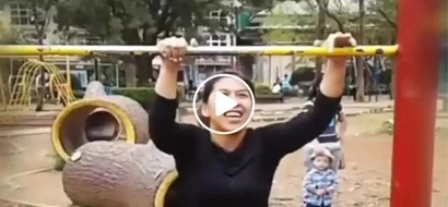 This woman performed shocking tricks in this public park...you'll be surprised with what she did!