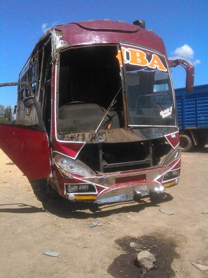 Simba coach bus involved in accident at Salgaa