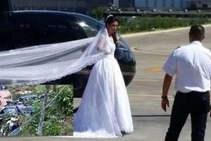 Quería sorprender a su novio llegando en el helicóptero al altar, pero sufrió un terrible accidente