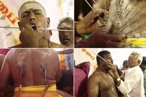 Believers pierce their backs, bellies and cheeks with hooks to show devotion to God (photos, video)