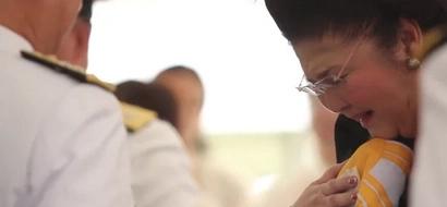 Naiyak sa tagumpay! Imelda Marcos emotionally receives flag at Marcos burial