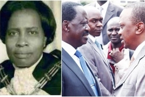 Raila Odinga joins in mourning Uhuru Kenyatta's sister