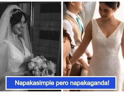 Coleen Garcia's simple yet elegant gown makes her a stunning bride