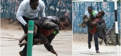 Journalist wins Kenyans' hearts by saving disabled man from swarm of bees
