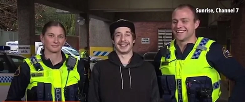 Cheeky cops! This drunk student found out how he got home after police did THIS (photos, video)