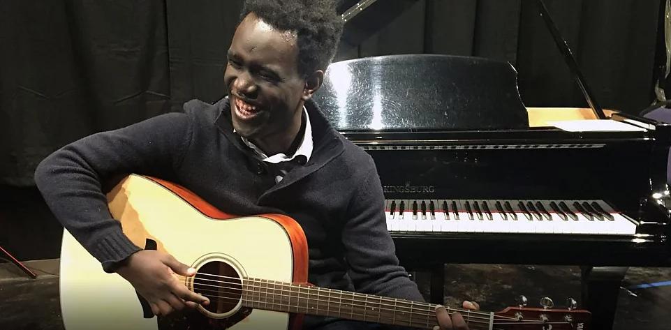 John Hope Singleton says gospel music has uplifted him. Photo: BBC Africa